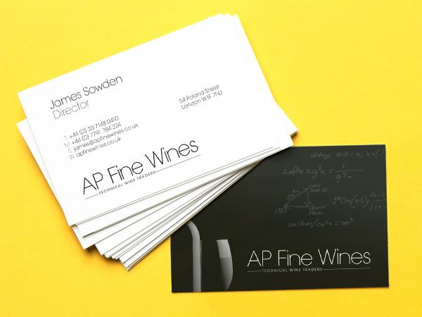 Ap fine wines branding reasonably good ap fine wine business cards colourmoves