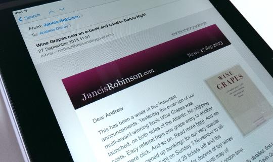 Jancis Robinson Email News Reasonably Good